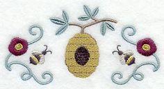 Honeybee Trio design (C3874) from www.Emblibrary.com