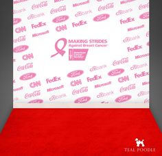 Custom Your Logos Step And Repeat Red Carpet Event by TealPoodle