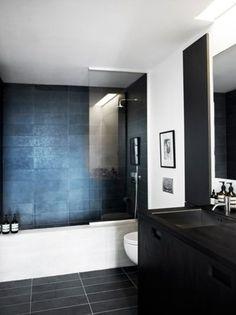 Luxurious home spa #bathroom #black #white #cool #nordic #living