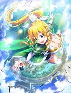 Arte Online, Online Art, Manga Drawing, Manga Art, Leafa Sao, Kirito, Leafa Sword Art Online, Sword Art Online Season, Anime Play