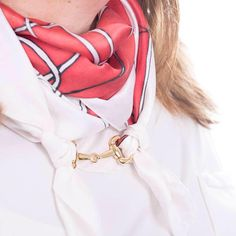 Equestrian / Horse Bit Scarf Ring for RedCat Silk Scarves, Available in Gold or Silver colour, Scarf Slider, Scarf Bail. Scarf Jewelry, Gift #ScarfAccessory #ScarfJewellery #GiftForHer #ScarfClip #ScarfRing #equestrian #HermesStyle #ChristmasGift #ScarfAccessories #SilkScarf