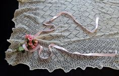 Antique Shetland Hand Knit Christening by Vintagefrenchlinens