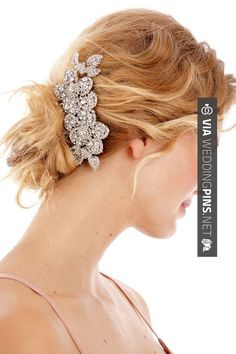 Nice! - hair pin | CHECK OUT MORE GREAT WEDDING HAIRSTYLES AND WEDDING HAIRSTYLE PICS AT WEDDINGPINS.NET | #weddings #hair #weddinghair #weddinghairstyles #hairstyles #events #forweddings #iloveweddings #romance #beauty #planners #fashion #weddingphotos #weddingpictures