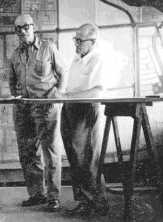 Le corbusier con Pierre Jeanneret