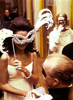 Mr. and Mrs. Frank Schiff at Truman Capote's Black and White Ball at The Plaza Hotel, 1966.