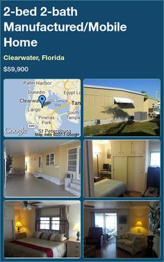 2-bed 2-bath Manufactured/Mobile Home in Clearwater, Florida ►$59,900 #PropertyForSale #RealEstate #Florida http://florida-magic.com/properties/543-manufactured-mobile-home-for-sale-in-clearwater-florida-with-2-bedroom-2-bathroom