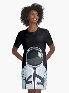 'Cosmonaut' Graphic T-Shirt Dress by iopan Design Products, Chiffon Tops, Classic T Shirts, Shirt Dress, People, Dresses, Vestidos, Shirtdress, Dress