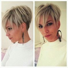 4 Motivated Clever Hacks: Women Hairstyles Curly Bangs funky hairstyles for 40 year olds.Funky Hairstyles For 40 Year Olds pixie hairstyles for thick hair. Stacked Hairstyles, Hairstyles With Bangs, Hairstyle Ideas, Updos Hairstyle, Boho Hairstyles, Bouffant Hairstyles, Beehive Hairstyle, Brunette Hairstyles, Asymmetrical Hairstyles