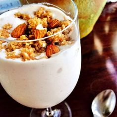 """What nutrition nerds eat for breakfast - I Quit Sugar  Jessica Sepel, nutritionist and wellness coach: """"I enjoy one cup of delicious creamy coffee (usually a piccolo) every morning as well! For breakfast, I typically make my Power Protein smoothie topped with a handful of raw nuts or homemade sugar-free & gluten-free granola."""""""