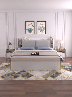 Bedroom bed design with storage video - Schlafzimmer Room Design Bedroom, Bedroom Cupboard Designs, Living Room Sofa Design, Bedroom Furniture Design, Home Room Design, Bed Furniture, White Bedroom Furniture Modern, Bedroom With Sofa, Bedroom In Living Room