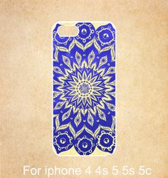 Blue Floral iphone 5c case iphone 5 case Mandala by GiftDream, $6.99