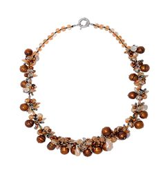 Handmade Copper Freshwater Pearl & Beads Necklace at Saintchristine.com