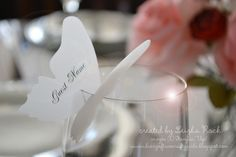 SU butterfly placecard for wedding