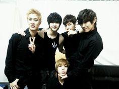 Seungho, Thunder, G.O., Lee Joon, and Mir of MBLAQ (엠블랙)