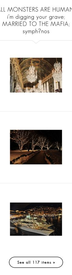 """""""ALL MONSTERS ARE HUMAN; i'm digging your grave; MARRIED TO THE MAFIA; symphōnos"""" by rocker-chick90 ❤ liked on Polyvore featuring pictures, backgrounds, photos, places, interior, winter, christmas, cosmocouture, filler and gold"""