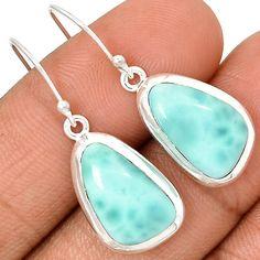 Larimar - Dominican Republic 925 Sterling Silver Earrings Jewelry LRIE1156