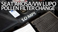 How o change #pollen #filter in #Seat #Arosa / #VW #Lupo (cabin air filter replace service) #cars