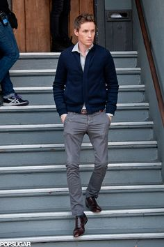 Eddie Redmayne nailed the preppy look in LA on Saturday.