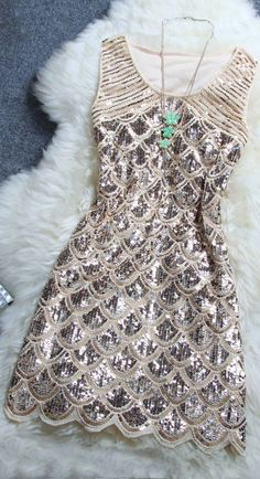 Sweet Sequin Dress .