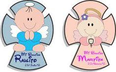 Resultado de imagen para cruces de bautizo y primera comunion para dibujar Baby Baptism, Ideas Para Fiestas, Smurfs, Baby Shower, Christmas Ornaments, Country, Creative, Fictional Characters, Angeles