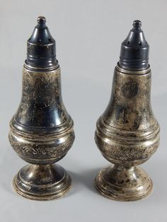 Vintage Lord Silver Inc. Sterling Silver Weighted Salt & Pepper Shakers Set Of 2 #LordSilverInc