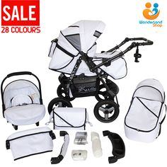 Baby pram #stroller pushchair car seat carrycot travel system #buggy+ 28 #colours,  View more on the LINK: 	http://www.zeppy.io/product/gb/2/132005360192/