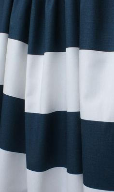"Railroad Stripe, Navy; 56"" wide 100% 7 oz cotton canvas; $14.95 per yard - Tonic Living #navy"