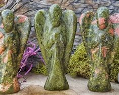 AURAMORE on Etsy Natural Healing, Crystal Healing, Student Teacher Gifts, Kit Homes, Air Plants, Boho Decor, House Warming, Garden Sculpture, Angels