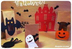 Anaquiños de papel: Cajas y bolsitas para Halloween