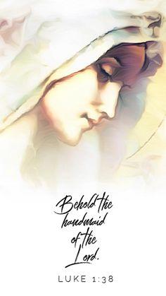 Catholic Memes, Catholic Prayers, Catholic Gifts, Blessed Mother Mary, Blessed Virgin Mary, Luke 1 38, Saint Feast Days, Roman Catholic, Faith Quotes