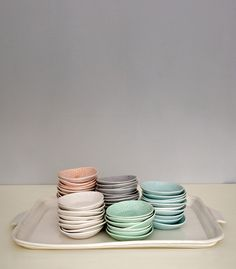 hors d'oeuvre plates - set