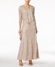Alex Evenings Petite Embellished Lace Gown and Jacket