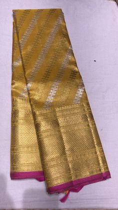 For more updates of our premium and niche sarees kindly message our WhatsApp no 8104099526 Bridal Sarees South Indian, Bridal Silk Saree, Saree Wedding, Indian Sarees, Banaras Sarees, Kanchipuram Saree, Handloom Saree, Half Saree Designs, Blouse Designs