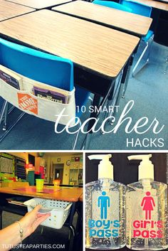 Tutus and Tea Parties: 10 Brilliant Tips for Your Classroom & Printable Teacher Planner Giveaway Classroom Hacks, Classroom Organisation, Teacher Organization, Future Classroom, School Classroom, Classroom Management, Classroom Decor, Classroom Design, Organizing