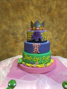 Pastel Rapunzel | Cumpleaños Katia | Postrería