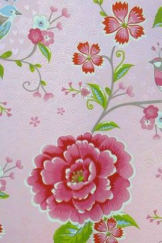 313010 birds in paradise roze eijffinger pip studio behang smartpaper vogel bloemen vogelkooi paradijs