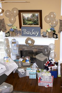 Real Event Baby Baxley: Mantle Decor