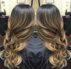 Balayage for Dark Hair - Deep Brown Hair with Caramel Highlights - Best Balayage Hair. Balayage For Dark Hair. Brown Black Hair Color, Hair Color And Cut, Dark Brown, Natural Brown, Brown Hair, Hair Colour, Color Black, Black Ombre, Mocha Brown