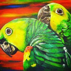 Brazilian guacamayos.  #ForSale on #society6  Link in bio. #S6  #Mothersday #promo #wonderful #Artwork #colorful #Brasil #Beautiful