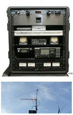 Emergency Ham Radio Go Box with Antenna.