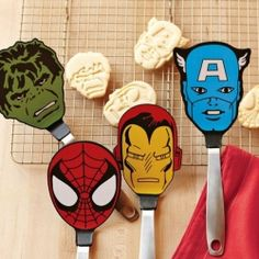 Marvel superhero spatulas are the perfect accessory for any kitchen.