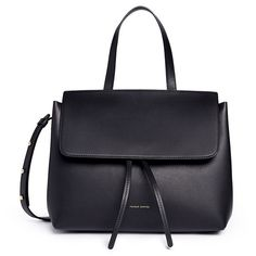 Mansur Gavriel 'Mini Lady' leather bag (42.775 RUB) ❤ liked on Polyvore featuring bags, handbags, purses, black, mini purse, leather purses, structured handbags, real leather purses and mini handbags