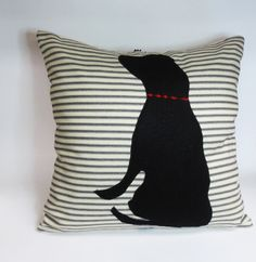 Black Felt Dog Pillow