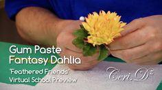 Gum Paste Fantasy Dahlia | Feathered Friends Virtual School Project
