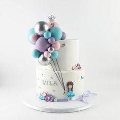 Cake Decorating Amazing, Cake Decorating Set, Creative Cake Decorating, Birthday Cake Decorating, Beautiful Birthday Cakes, Beautiful Cakes, Amazing Cakes, Baby Girl Birthday Cake, Adult Birthday Cakes