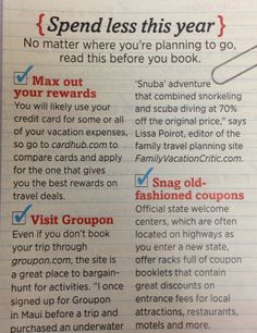 Travel finance tips