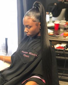 These hairstyles represent fairly simple as well as are good for starters, quick and easy young one hair-styles. Goddess Hairstyles, Dope Hairstyles, Ponytail Hairstyles, Weave Hairstyles, Straight Hairstyles, Hair Ponytail, Protective Hairstyles, Protective Styles, Updos