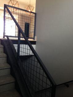 Black Mesh powder coated metal railing....thanks stairy Larry