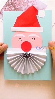 Christmas Paper Crafts, Preschool Christmas, Diy Christmas Cards, Preschool Crafts, Holiday Crafts, Santa Crafts, Winter Crafts For Kids, Paper Crafts For Kids, Baby Art Crafts