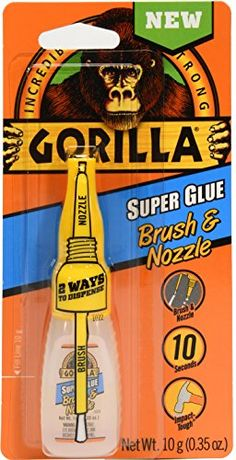 Gorilla 7500101 Super Glue Brush & Nozzle, 10 g, Clear at Products Lists of Tools and Hardware - gorilla super glue brush nozzle 10 g clear Clear Check, Super Glue, Wall Treatments, Iowa, Home Improvement, My Favorite Things, Amazon, Painting, Fasteners